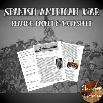 Spanish American War Reading & Worksheet