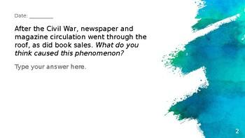 Spanish-American War, Roosevelt, WWI Bellringers Flipchart