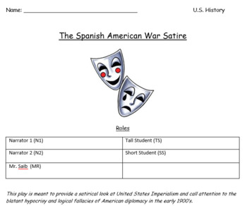Spanish American War Satire By Anthony Casey Teachers Pay Teachers