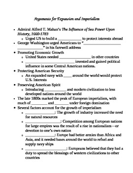 Spanish American War Skeleton Outline Notes