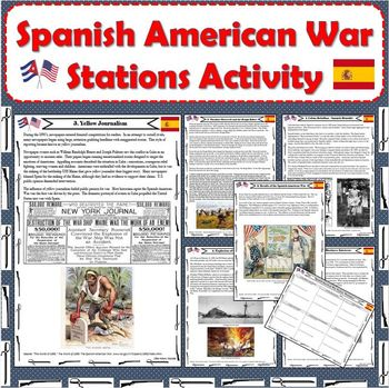 Spanish American War Stations Activity By Little History Monster