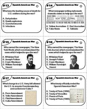 Spanish American War Task Cards