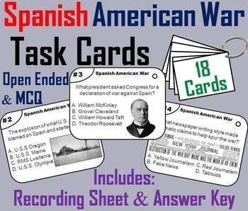 Spanish American War Task Cards and Activities Bundle
