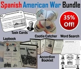 Spanish American War Task Cards and Activities Bundle