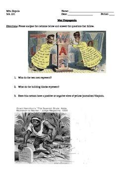 Spanish American War - War Propaganda
