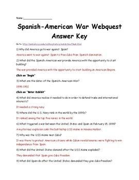 Spanish American War Webquest