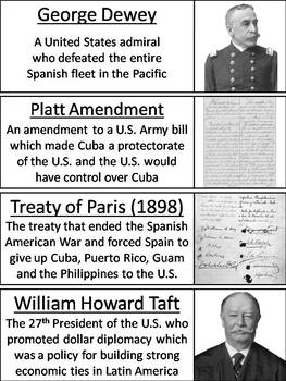 Spanish American War Word Wall Cards