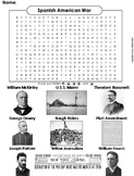 Spanish American War Activity/ Word Search (Yellow Journalism, Rough Riders etc)