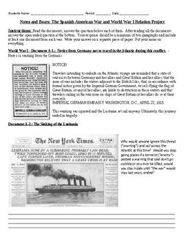 Spanish American War Worksheets by MsDHistoryAdventures | TpT