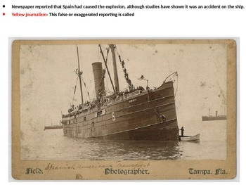 Spanish American War/Panama Canal POWERPOINT WITH NOTES
