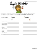 Spanish- Angel & Devil - Tu Commands activity- no prep - p