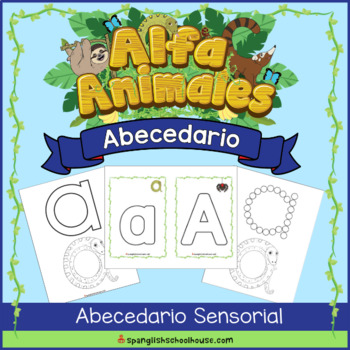 Spanish Animal Alphabet Sensory Book & Playdough Cards