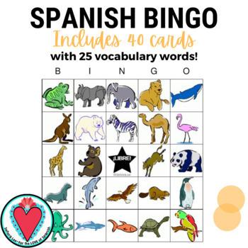 Spanish Bingo: Animals - Los Animales