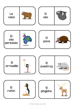 Spanish Animal Domino