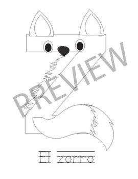 Spanish Animal Letter Craft