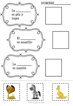 Spanish Animal Packet NO PREP