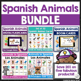 Spanish Animals Vocab Distance Learning Bundle | Digital P