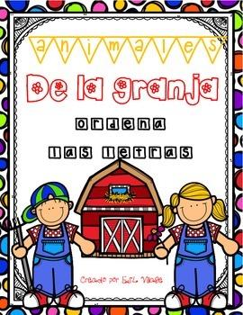 In Spanish / Animales de La Granja (Unscramble)