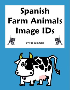 Spanish Animals / Farm Animals 18 Vocabulary IDs Worksheet