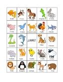 Spanish Animals BINGO (board #1)