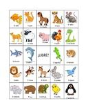 Spanish Animals BINGO (board #2)