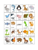 Spanish Animals BINGO (board #3)