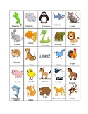 Spanish Animals BINGO (board #4)