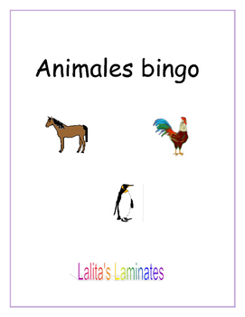 Spanish Animals Bingo