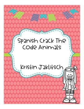 Spanish Animals - Crack the Code!