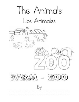 Spanish Animals Farm & Zoo Book