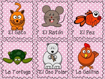 Spanish Animals & Insects Flash Cards