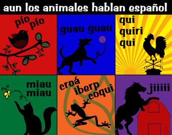 Spanish Animals Poster (los animales hablan)