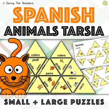 Spanish Animals Tarsia Puzzle Activity