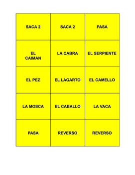 Spanish Animals UNO