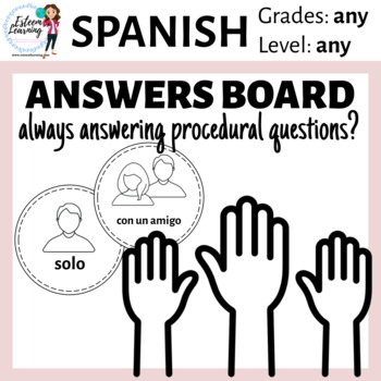 Spanish Answers Board