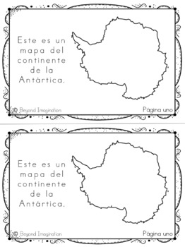 Spanish Antarctica Continent Booklet | 48 Pages for Differentiated Learning