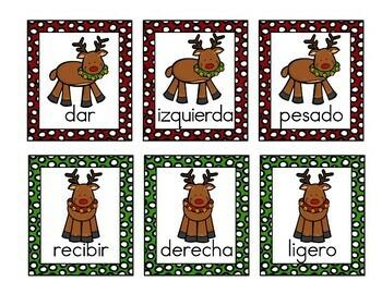 Spanish Antonyms Christmas Game  Antónimos