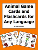 Animal Game Cards / Flashcards - Farm Animals and Pets