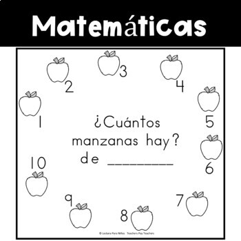 Spanish:  Apple Counting Book 1-10/ Cuenta Las Manzanas