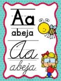 Spanish Apple Themed Mixed Alphabet (Abecedario manuscrito y cursivo Manzanas )