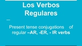 Spanish -Ar, -Er, -Ir Regular Verb Conjugation (Slides & Guided Notes)