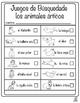 Spanish Arctic Animal Literacy Center: Spanish Arctic Animal Scavenger Hunt