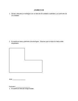Spanish Area and Perimeter Quiz