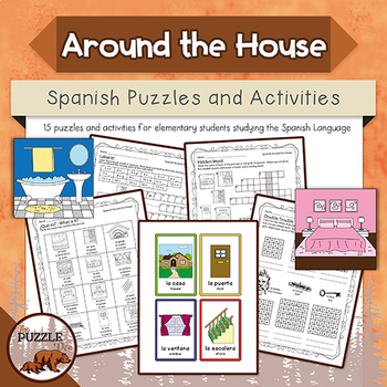 Spanish Around the House Puzzles and Activities