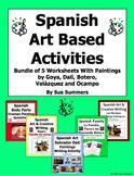 Spanish Art Based Activities Bundle of 5 Worksheets