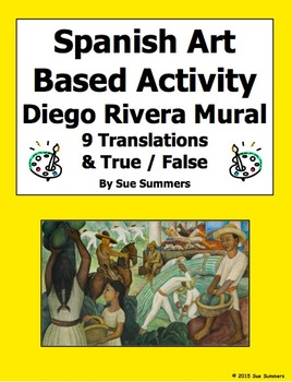 Spanish Art Based Activity - Diego Rivera Mural 9 True/False and Translations