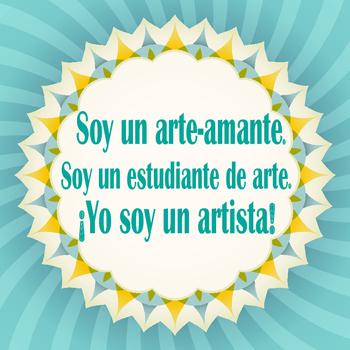 Spanish Art Room Poster
