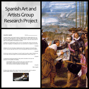 Spanish Art and Artists Group Research Project and Presentation