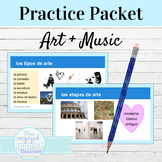Spanish Art and Music Activity Packet