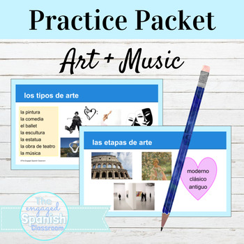 Spanish Art and Music Unit; Vocab Presentation and Ready-t
